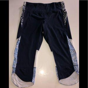 Champion sport pants crop Capri navy tights xxl